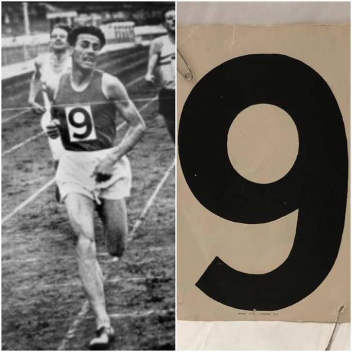 László+Tábori+White+City+Stadium+and+race+number+1959
